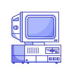 retro computer from 90s vector image
