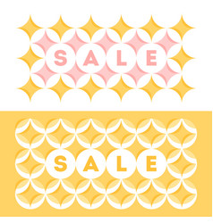 sale banner with geometric pattern with stars vector image