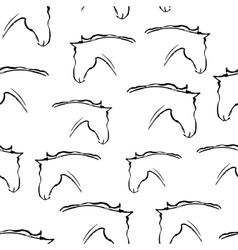 Seamless pattern with heads of horses vector image