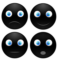set black smile vector image