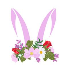 Silhouette ears an easter bunny vector