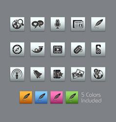 social media - satinbox series vector image