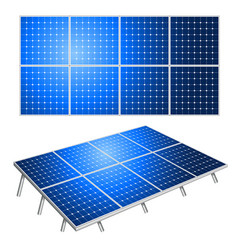 solar panels alternative energy isolated on white vector image