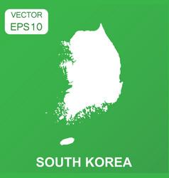 south korea map icon business concept south korea vector image
