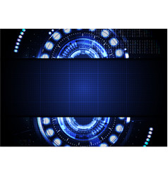Technological abstract digital cyber light vector