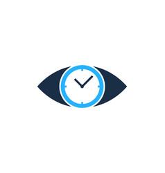 vision time logo icon design vector image