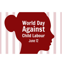 World day against child labor concept template vector