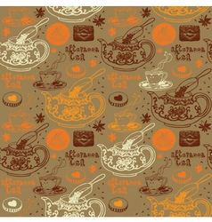 Afternoon Tea Background Pattern vector image vector image