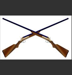 Crossed chotguns vector