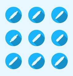 Flat icons for longboard vector image