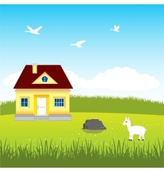 House on glade vector image vector image