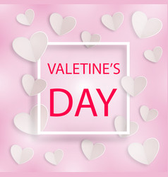romantic background valentines day with frame vector image vector image