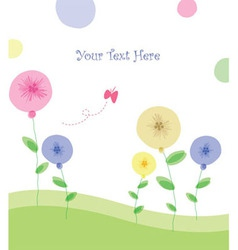 summer floral poster vector image vector image
