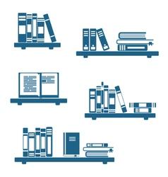 Books on Bookshelves vector image vector image
