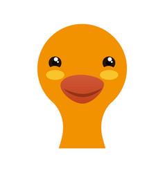cute goose cartoon vector image vector image