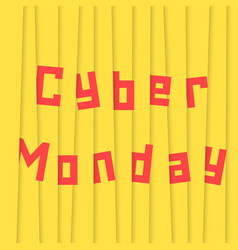 cyber monday with yellow stripes vector image vector image