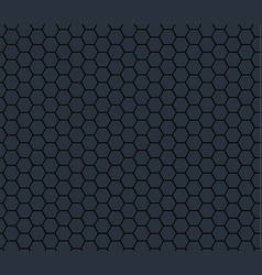 dark gray technology hexagon honeycomb seamless vector image