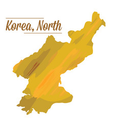isolated north korean map vector image
