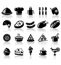 kitchen and food vector image vector image