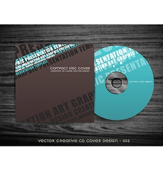modern cd cover design vector image vector image