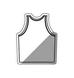 sleeveless male shirt vector image vector image