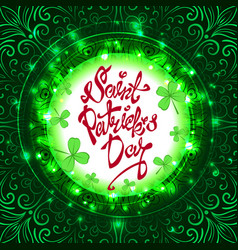 background for patrick s day poster vector image