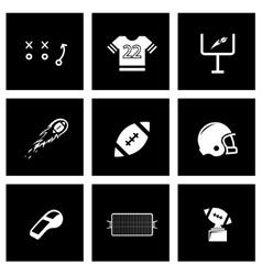 black football icon set vector image vector image