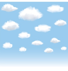 clouds in blue sky vector image vector image