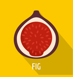 fig icon flat style vector image vector image