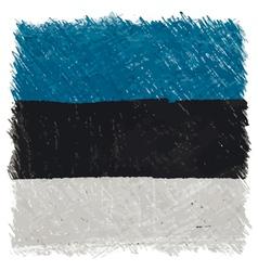 Flag of Estonia handmade square shape vector image