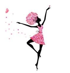 flower girl ballerina vector image vector image