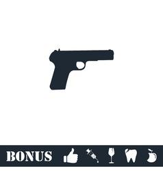 Gun icon flat vector image