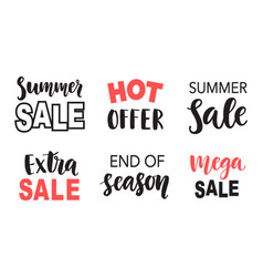sale banner template elements set with lettering vector image vector image