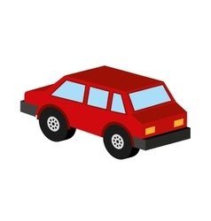 car isometric vehicle icon vector image