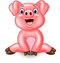 Cartoon adorable baby vector image vector image
