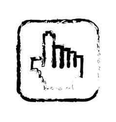 Contour symbol hand icon vector