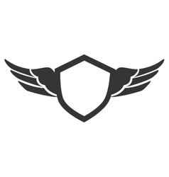 emblem wings silhouette isolated vector image