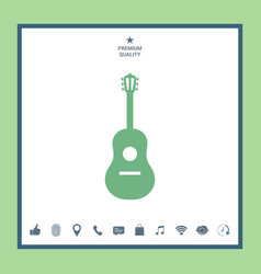 guitar icon vector image vector image