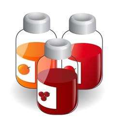 Jars with Jam vector image