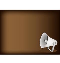 Megaphone Brown Background vector image vector image