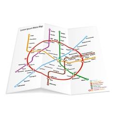 metro map icon vector image vector image