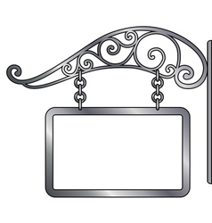 old metal signboard vector image