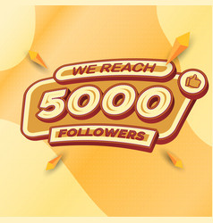 5000 followers square banner modern look vector