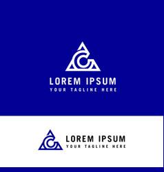A and c letter line logo element ac letter logo vector