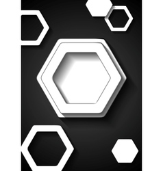 Abstract black and white tech background vector image