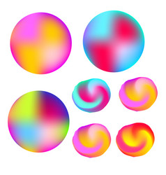 abstract colorful liquid colors glowing circles vector image