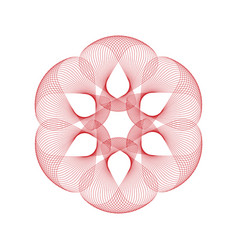 Abstract geometric flower fractal symbol design vector