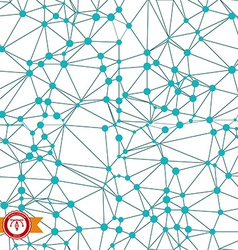 Abstract Technology Background Connected Dots vector image