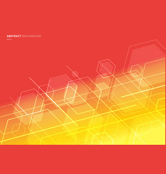 abstract technology concept geometric hexagon vector image