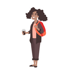 african american college student vector image